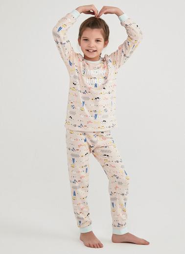 Penti Çok Renkli Kız Çocuk Grandma'S House Termal Ls 2Li Pijama Takımı Renkli